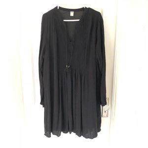 ♡Like New! Old Navy XXL Pleated Black Dress ♡